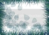 leaves and grass background